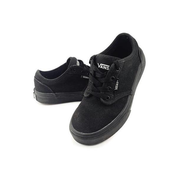 Vans Authentic Original Black Kids Skater Shoes